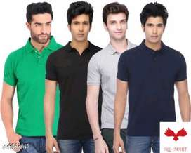Best design stylish combo of 4 t shirts for men's