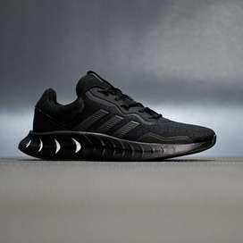 Sepatu sneakers running adidas kaptir super boost black original