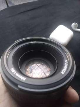 Nikon AF-S NIKKOR 50mm f/1.8G lens black