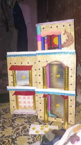 Hand made cardbord villa craft