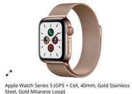 APPLE Watch series 5 LIMITED , gps + cell, gold stainless steel, 40 mm