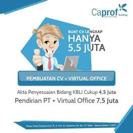Jasa Pendirian CV / PT lengkap dengan Virtual Office