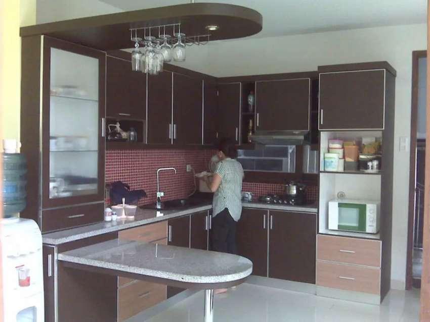 Diorder kitchen set aluminium berbagai macam model