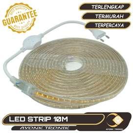 Lampu Led Strip Putih SMD 3014 with Controller EU Plug 220V 10 Meter