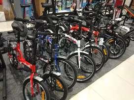 Sepeda lipat ready di ACE HARDWARE bisa KREDIT