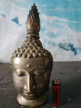 patung kuningan budha dari Thailand antik lawas.