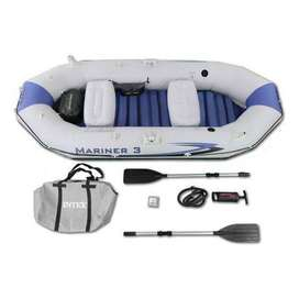 "INTEX Boat Set Mariner 3 For 3 Persons ( 117"" X 50"" X 18"" )"