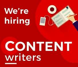 content writing experienced worker required