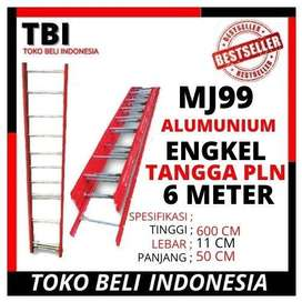 Tangga PLN MJ99 Alumunium 6 Meter ENGKEL
