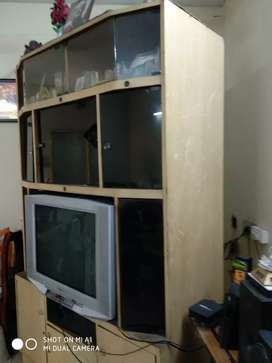 Big TV stand with 10 closed cupboards