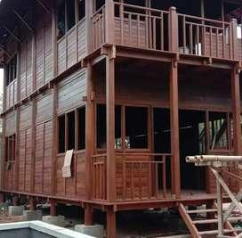 Rumah kayu klapa dari jawa