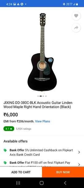 jixing DD 380c_BLk acoustic guitar linden wood maple