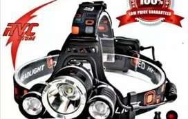 Senter kepala led + batrai + charger