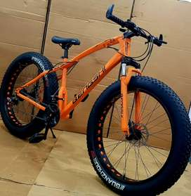TOP BRAND FAT TYRE BICYCLE WITH 21 SHIMANO GEARS WITH 1 YEAR WARRANTY