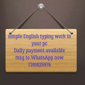 Typing work with daily payment