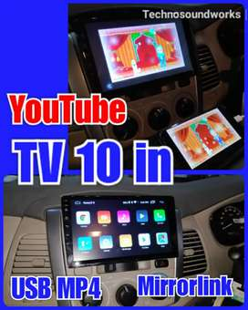 Tv 10 inch in dhd usb mp4 doubledin tape android for paket sound audio