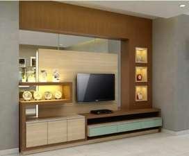 Backdrop tv,Lemari Hias,Room Set.Jaminan Harga termurah se Indonesia