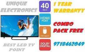 40in smart 4k supported led tv with combo pack gift !!!