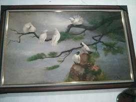 Hiasan lukisan  sejuk asri