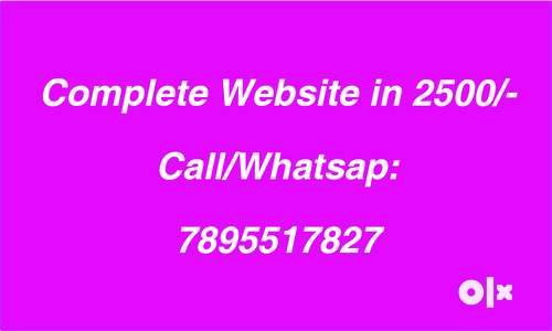 Website in 2500/-,free domain Registration & web hosting, 5 pages, seo 0