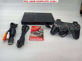 PS2 16GB COMPLETE WITH 10 GAME REMOTE AND ALL GAMING CONSOLE