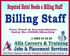 Biiling Staff in Hotel