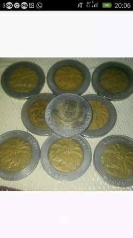 Koin seribu bimetal jual per keping