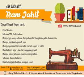 Lowongan Kerja Team Jahit
