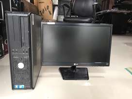 Dell optiplex core 2 duo 2gb ram 250gb hdd with  screen
