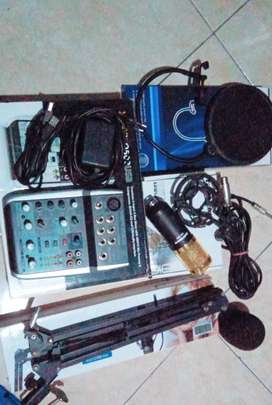 Mixer behringer xenyx 502usb mic bm800