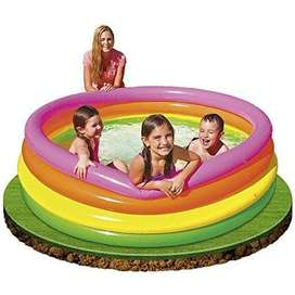 Sunset Glow Four-Ring Pool by Intex