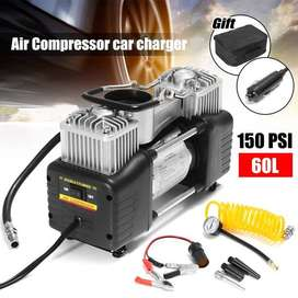 Double Cylinder Car Air Compressor