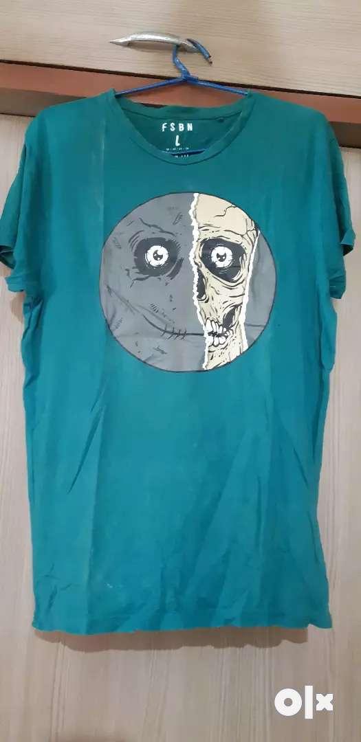 Bottle green T-shirt 0