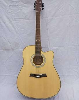 Acoustic Guitar Jumbo 41 Inches - Hanks-F-Cut White Ring