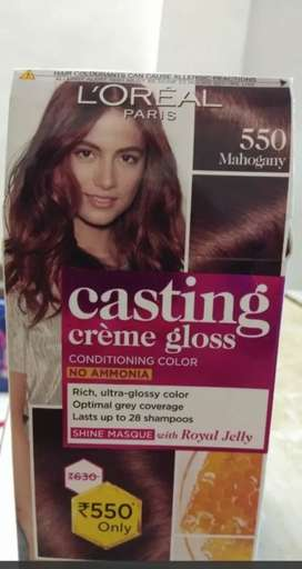 L'Oreal Paris Casting Creme Gloss Hair Color, Mahogany 550, 87.5g+72ml