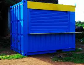 fabricated shipping container for shop.