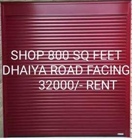 Road facing shop dhaiya
