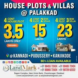 Customized beautifull villas in palakkad