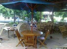 Meja payung kantin, vila, cafe dan resto, taman
