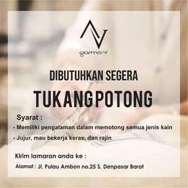 Dicari TK POTONG Berpengalaman untuk Garmen di Denpasar