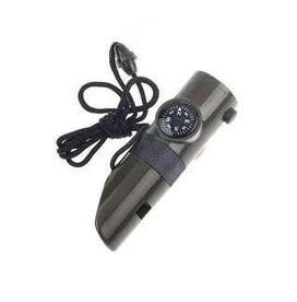 HS peluit kompas 7 in 1 termometer led camping whistle compass