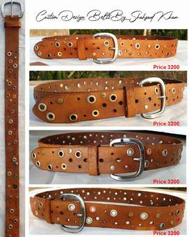 leather belts (hand made) get your leather bags and belts designed
