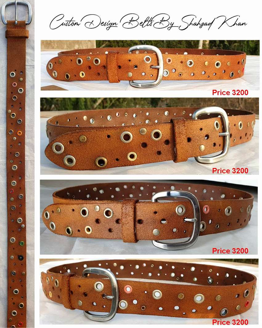 leather belts & leather bags on order