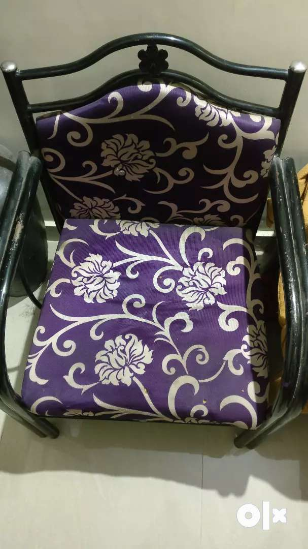 2 Iron chairs for sale 0