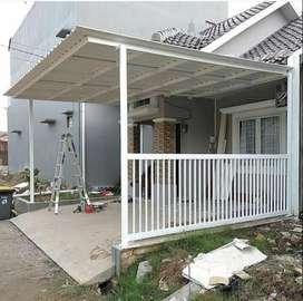 @16 canopy minimalis atap spandek nyaman
