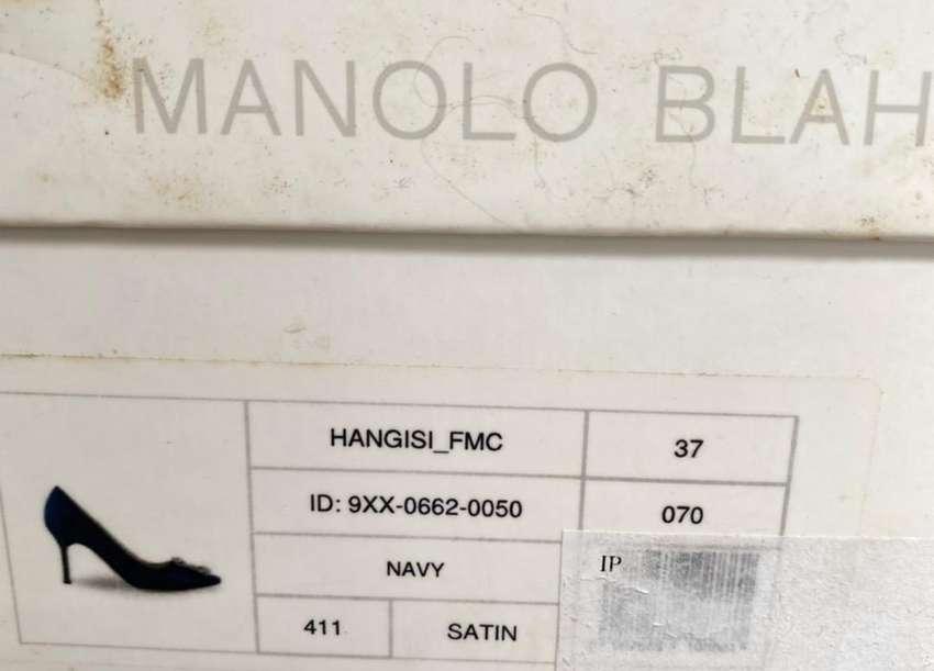 Manolo BlahNik Navy, Blue , Black