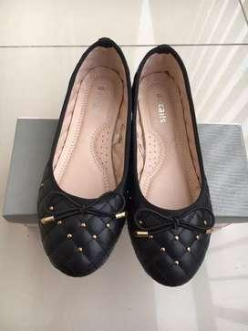 Flat shoes Hitam Sepatu Hitam Cewek