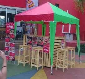 Tenda cafe  nympek baru bayar