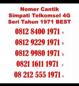 Kartu perdana nomor simpati nomer telkomsel 1971 1972 TAHUN 1974 1975