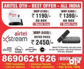 Buy New Dth Settop Box IPL OFFER Airtel HD box xstream Box Dth dd free